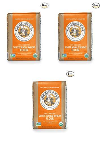 King Arthur Flour 100% Organic White Whole Wheat Flour, 5 Pound (18 Pack) by King Arthur Flour (Image #1)