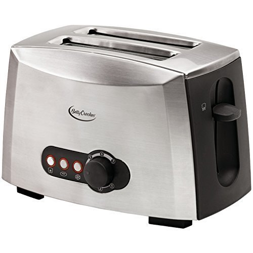 Betty Crocker BC-1618C 2-Slice Toaster, Brushed Stainless Steel Size: 2 - Slice Color: Brushed Stainless Steel, Model: BC-1618C, Hardware Store