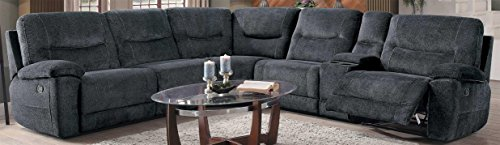 Homelegance Columbus Fabric Sectional Sofa, Cobblestone