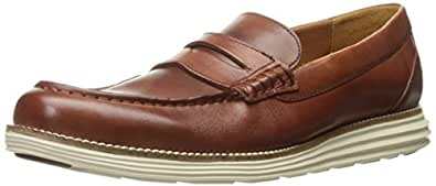 Cole Haan Men's Original Grand Penny Loafer, Woodbury/Ivory, 7 M US