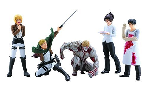Attack on Titan Real Figure Collection Capsule Series 4 Complete Set of All 5 ()