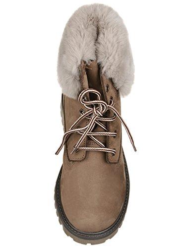 Zecchino dOro A04-403 Stiefel Boots mit Fellkragen Beige (schlam 1032)