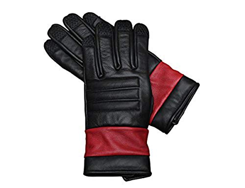 Deadpool Costume Leather Gloves - Genuine Leather Dead pool Gloves (S)]()