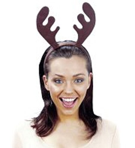 (Momo&Ayat Fashions Unisex Christmas Accessories Costume Headband Elf Santa All Mix & Match (Reindeer Antler,)