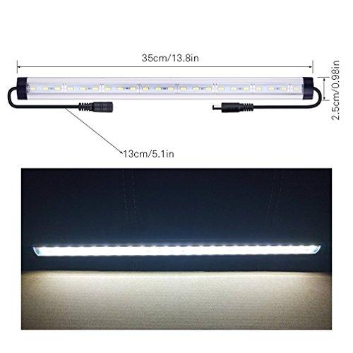 SUNWOW LED light strip bar with 24 leds for Kitchen, Utility rooms, Shelf, Show Case Lighting - Four Utility Shelves