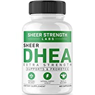 Maximum Strength DHEA 100mg Supplement - for Boosting Lean Muscle Mass, Restoring Youthful Energy Levels