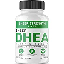 Maximum Strength DHEA 100mg Supplement - for Boosting Lean Muscle Mass, Restoring Youthful Energy Levels, and Promoting Healthy Aging in Men and Women, New Non-GMO Formula, Sheer Strength Labs, 60ct