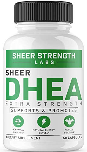 Maximum Strength DHEA 100mg Supplement - for Boosting Lean Muscle Mass, Restoring Youthful Energy Levels, and Promoting Healthy Aging in Men and Women, New Non-GMO Formula, 60, dehydroepiandrosterone