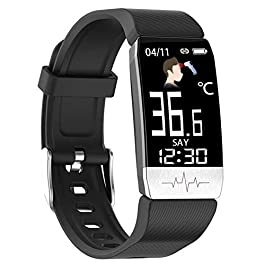 YZJ Fitness Tracker,Body Temperature Watch with Heart Rate Blood Oxygen Blood Pressure Monitor,Pedometer Smart Watch…