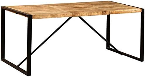 vidaXL Mesa Comedor 180 cm Madera Mango Mueble Mobiliario Cena ...