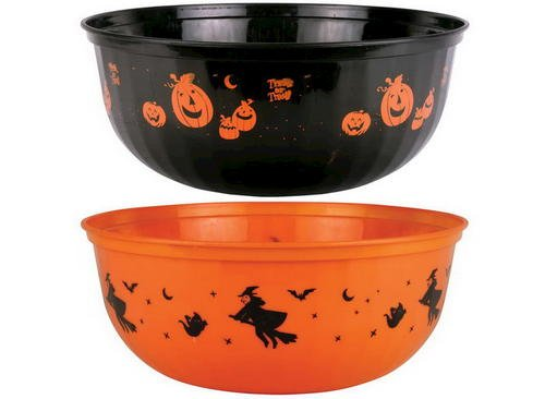 Reusable Halloween Party Plastic Serving Bowl Tableware (pattern