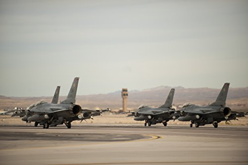 Home Comforts LAMINATED POSTER Four F-16 Fighting Falcons from the 55th Fighter Squadron, Shaw Air Force Base, S.C, prepare takeof (55th Fighter)