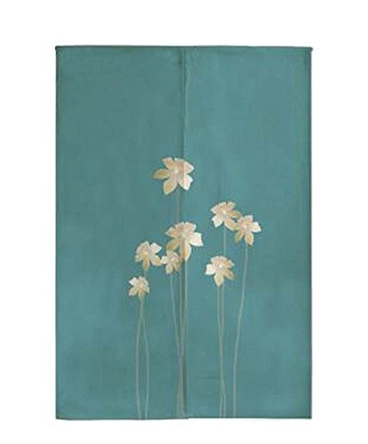 Japanese Noren Curtain Rural Style Entrance Curtain Doorway Curtain Flower by Black Temptation