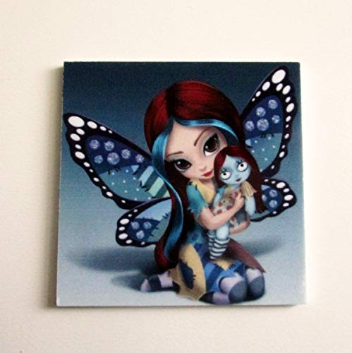 Butterfly Girl Resin Needle Minder, Hand Needle Notion