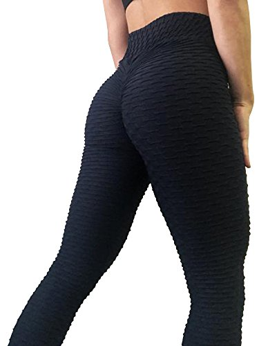 Sexy Butt Lift High Waist Slimming Leggings Textured Activewear Yoga Pants Skinny Tights