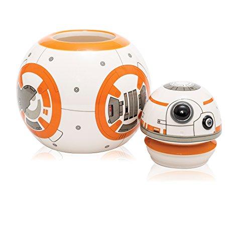 Star Wars 21651 - BB-8 3D Keramik- Keksdose in Geschenkverpackung, 17.5 x 19 cm