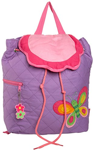Stephen Joseph Quilted Backpack, Purple Butterfly
