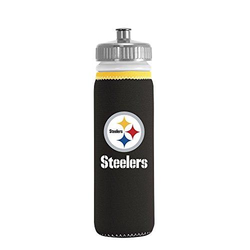 NFL Pittsburgh Steelers Van Metro Sports Bottle, Black, 22-ounce