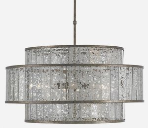 Currey and Company 9454 Fantine - Eight Light Chandelier, Pyrite Bronze/Raj Mirror Finish by Currey and Company