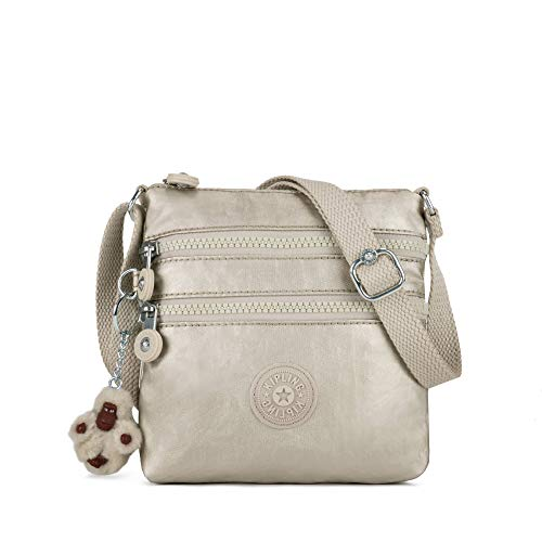 1991204d24 Kipling Alvar Extra Small Metallic Mini Bag One Size Cloud Grey Metallic   Handbags  Amazon.com