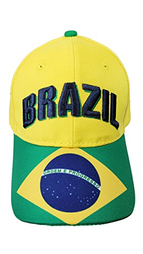 Brazil Cap Hat Any Sports Soccer World cup Adults Mens 01-4 ()