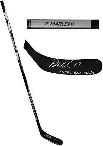 - Patrick Marleau Toronto Maple Leafs Autographed Game Model Warrior Hockey Stick with 2G TML Debut 10/4/17 Inscription - Limited Edition of 12 - Fanatics Authentic Certified
