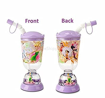 1ca03e1cc47 Amazon.com: Disney Tinkerbell Snowglobe Tumbler with Straw Cup ...