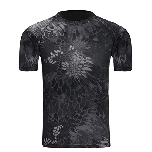 Camo Mens Short Sleeve T-shirt - Men's Short Sleeve Camo T-Shirt Moisture Wicking Athletic Shirts Comfort Casual Tee Tops