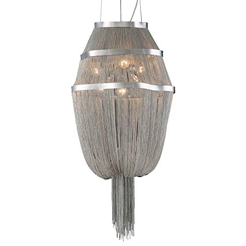 PLC Lighting 70015 SN 6-Light Chandelier Formae Collection, 24