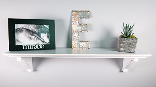 White Distressed Standard Wood Shelf - 5