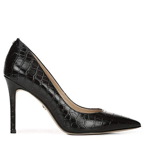 Sam Edelman Women's Hazel Pump Black Crocodile Leather 8.5 M US (Crocodile Effect Leather)