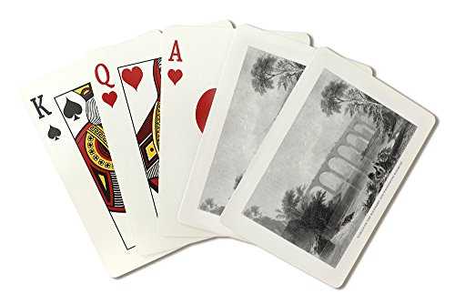 (Maryland - View of the Baltimore and Washington Railroad Viaduct (Playing Card Deck - 52 Card Poker Size with Jokers))