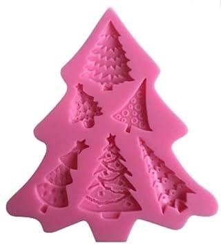 Molde de silicona para tartas Candy repostería herramientas decoración DIY forma de árbol de Navidad con ...