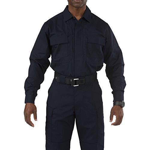 5.11 Camisa de manga larga TDU Taclite de poliéster-algodón táctico para hombres, estilo 72054