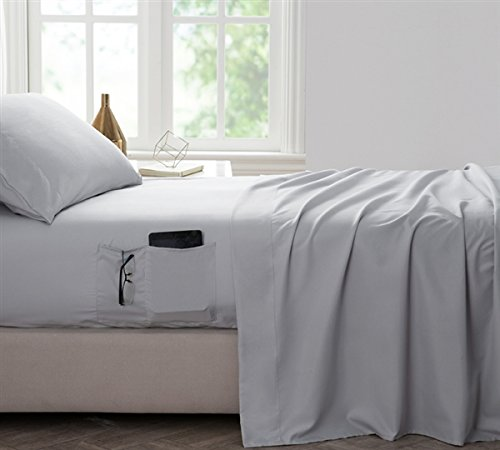 Byourbed BYB Bedside Pocket Twin XL Sheet Set - Supersoft Glacier Gray