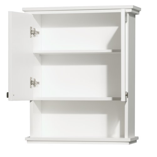 Wyndham Collection Acclaim Solid Oak Bathroom Wall-Mounted Storage Cabinet in White by Wyndham Collection (Image #1)