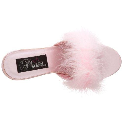 Fabulicious Amour-03, Zuecos para Mujer - - B. Pink Satin-Fur