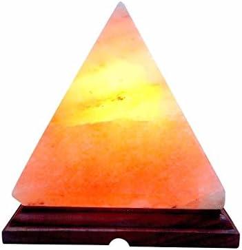 BoNew - Lámpara USB con forma de pirámide de sal oral del Himalaya ...