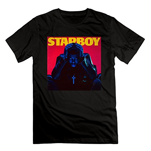 Men's The Weeknd Starboy New Album Cover Short Sleeve T-shirt (50s Haircuts)