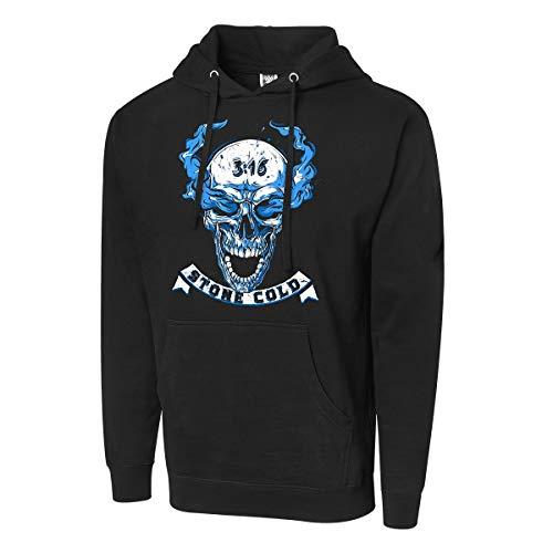 WWE AUTHENTIC WEAR Stone Cold Steve Austin Hell Yeah Pullover Hoodie Sweatshirt Black Extra Large (Wwe Latest News On Stone Cold Steve Austin)
