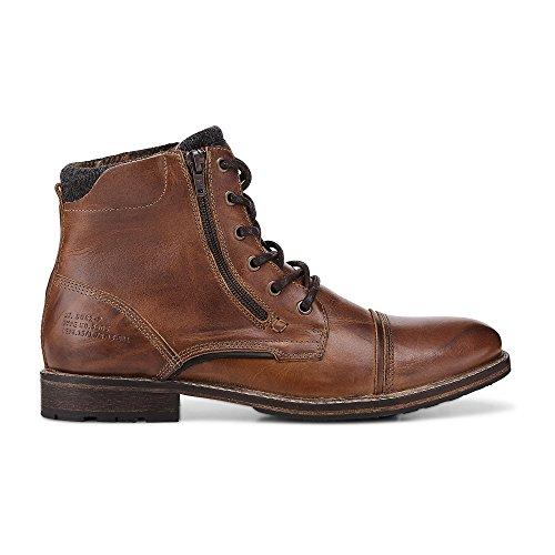 Cox Herren Schnür-Boots Braun Leder 42