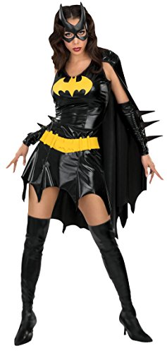 DC Comics Deluxe Batgirl Adult Costume, Medium Black -