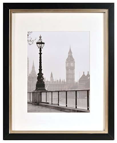 Artcare By Nielsen Bainbridge 16x20 Black and Champagne Archival Quality Frame With Single Warm White Mat For 11x14 Image #RW19TAYTT. Includes: UV Glazed Glass and Anti Aging - Frame Glass Uv