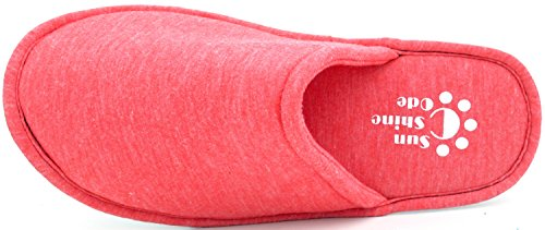 Hotel Memory for Slippers Rose Bedroom Bag red Cotton Code Women's Spa Foam Home Matching Travel Washable Sunshine with EqFOgwp