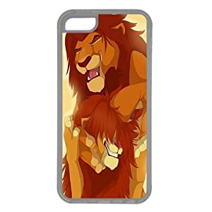 iPhone 5C case ,fashion durable Transparent side design phone case, Rubber material phone cover ,Designed Specially Compatible with Simba and Mufy .