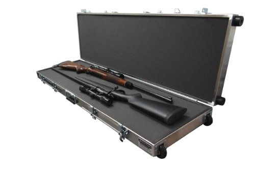 Americase-VS-Two Rifles with Scopes Case with Wheels - Made in the U.S.A. (Kalispel Rifle Cases)