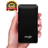 Mogix External Battery Charger 10400mAh Juice Pack - Fast 2 USB Power Output Ports Best for Portable Gadgets, Cell Phones and Tablets (Black)