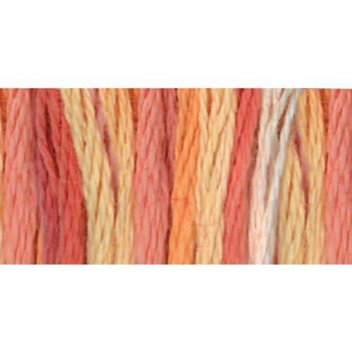 - DMC 417F-4120 Color Variations Six Strand Embroidery Floss, 8.7-Yard, Tropical Sunset