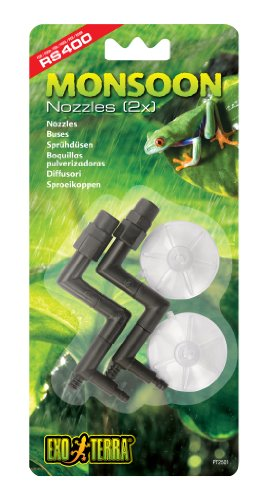 Exo Terra Nozzles Replacement for Monsoon RS400 High-Pressure Rainfall System, 2-Pack
