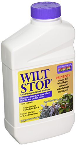 - Bonide 037321001027 102 32-Ounce Wilt Stop Concentrate Plant Protector, 32 oz, Multicolor